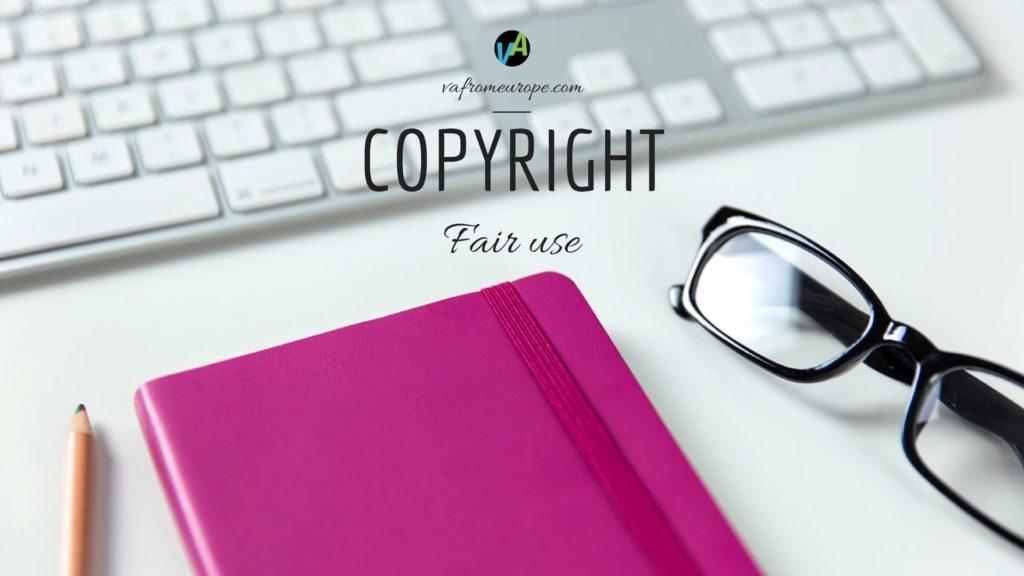 Copyright – fair use