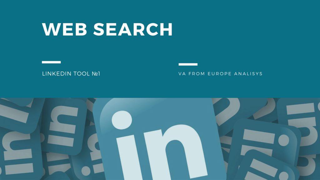 Web search – LinkedIn tool №1