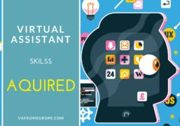 What skills does Virtual Assistant acquire during working process with a virtual customer?